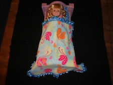 doll bedding for 18 inch american girl blanket pillow set butterfly aqua lace