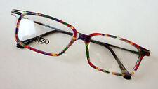 gafas Moldura Montura colorido loco anguloso forma recta Mujer Hombre TALLA L