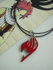 Hot Sale Anime FAIRY TAIL Natsu Dragneel Guild Cosplay Red Pendant Necklace Red
