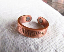 Copper Magnetic Adjustable Ring with EGYPTIAN DESIGN  solid copper 125