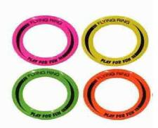 Set Of 4 Toy Flying Ring Frisbee Toys Ideal For The Beach/Garden *BRAND NEW*