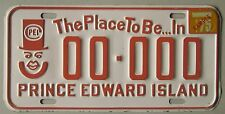 Prince Edward Island 1975 THE PLACE TO BE...IN SAMPLE License Plate # 00-000