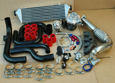 EG EK DC2 B16 B18 B SERIES POLISHED TURBO KIT+DOWNPIPE+INTERCOOLER+RS BOV+PIPING