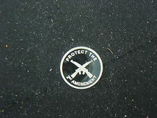 1 GRAM .999 SILVER 2nd AMENDMENT CROSSED RIFLES GUN ROUND COIN AR-15 AK NORINCO