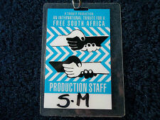 NELSON MANDELA FREE SOUTH AFRICA PASS 1990 Lou Reed, Simple Minds, Peter Gabriel