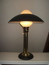 Mid Century Modern  Henningsen Style  Table Lamp With Architectural Lens # 2