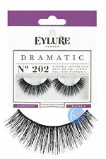 EYLURE DRAMATIC FAKE EYELASHES FALSE EYE LASH 202 DOUBLE LASHES. REUSABLE.
