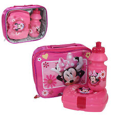 Disney MINNIE MOUSE Insulated Lunch Bag, Snack Box & Bottle Set - Back to School