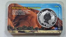 1993 Australia Kookaburra 1 oz silver BU UNC in Ayres Rock Littleton Holder