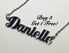 Name Necklace Acrylic Personalized - Buy 3 get 1 FREE - FREE Shipping  22 Colors