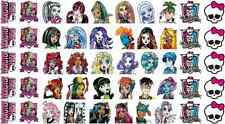 50 MONSTER HIGH NAIL ART WATER TRANSFERS STICKERS PARTY FAVORS SKULL CLEO