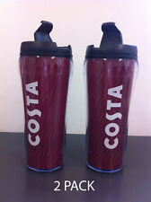 Costa Coffee Travel Mug/Tumbler/Cup (2 Pack) Flask, Thermal, 450ml Brand New