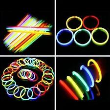 50 Pcs Glow Sticks Bracelets Necklaces Fluorescent Neon Party Wedding  Abundant