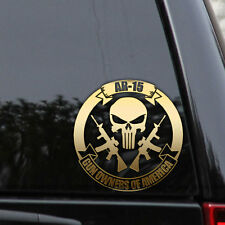 2ND AMENDMENT AR-15 PUNISHER GUN GOA America Window Laptop Decal Sticker Hunting