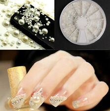 3D Fashion Nail Art Tips Decor Accessories Pearl Acrylic Gem Glitter Manicure
