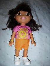 "2009 Mattel Dora the Explorer Doll Articulated Hard Plastic Doll 9"" Toy"