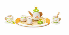 E3124 HAPE Wooden Tea Set for Two [Playfully Delicious] Toddler Child Age 3yrs+
