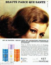 PUBLICITE ADVERTISING 1016  1963  la laque Set de Pantène  hair spray