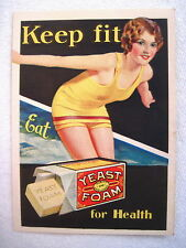 """Energetic Vintage Advertising Booklet for """"Yeast Foam"""" for Baking Bread & More *"""