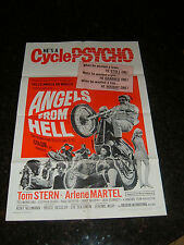 """ANGELS FROM HELL 1968 Original Movie Poster, 27"""" x 41"""", C8 Very Fine"""