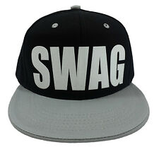 SWAG BLACK/GREY (FLOCK) Snapback Cap