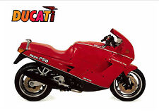 DUCATI Poster 750 Paso 1986 1987 1988 Suitable to Frame
