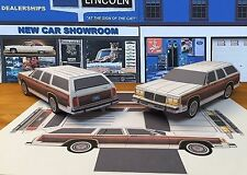 Papercraft 1979 Ford LTD Country Squire wagon Paper Car EZU-build  Toy Model Car