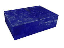 """BUTW Hand Crafted Afghan Lapis Lazuli 7 7/8"""" Jewelry Box Gorgeous Color 0797K ab"""