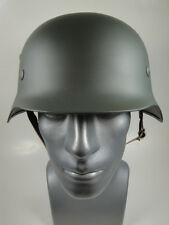 "German WW II Steel Helmet M40 / M35 Included Leather Inlet & Chin Strap 7-1/2"" !"