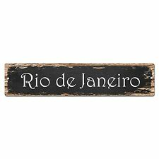 SP0148 Rio de Janeiro Street Sign Bar Store Shop Pub Cafe Home Room Chic Decor