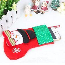 Christmas Snowman Holder Dinner Table Decor Cutlery Silverware Bag Pockets Xmas
