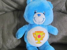 "2003 Plush blue Care bear Champion 13"" stuff animal"