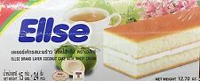 12.70oz Euro Ellse Layer Coconut Flavored Cake with White Cream, 24 Pieces