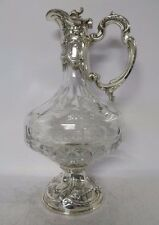 Fine Sterling Silver And Crystal Wine Bottle: 22309-0300