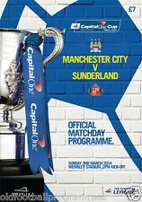 2014 CAPITAL ONE CUP FINAL PROGRAMME *(SUNDERLAND V MANCHESTER CITY)*