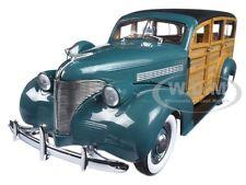 1939 CHEVROLET WOODY STATION WAGON YOSEMITE GREEN 1/18 MODEL CAR BY SUNSTAR 6171