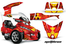 AMR Racing Can Am BRP RTS Spyder Graphic Kit Wrap Street Bike Decal MELTDOWN Y