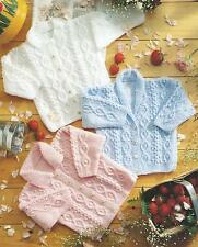 "Baby Knitting Pattern DK Girls Boys Cardigans 16-24"" Double Knitting  183"