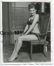 Cute Female Pin Up Lingerie 8x10 ORIGINAL 1960 PHOTO Vintage Sexy Heels TR7-1987