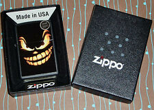 Zippo 28439 Evil Jack o Lantern Black Matte NEW Windproof Lighter Free Shipping