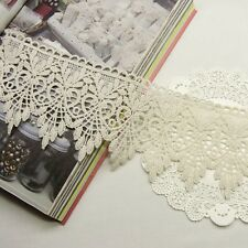 1yard Antique Style Scalloped Embroidery Cotton Crochet Lace Trim 7.5cm Wide