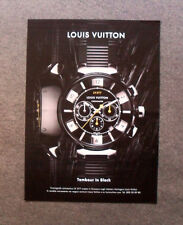 M535 - Advertising Pubblicità - 2013 - LOUIS VUITTON TAMBOUR IN BLACK