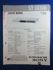 SONY ST-JX500 TUNER SERVICE  MANUAL FACTORY ORIGINAL GOOD CONDITION