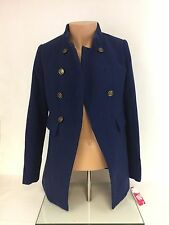 Girls Blue Tommy Girl Long Coat Size S