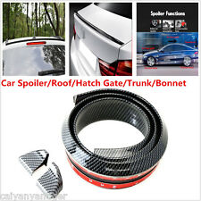 Universal Carbon Fiber Soft Styling Car Roof Trunk Spoiler Wing Lip Trim Sticker