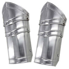 Medieval Renaissance Knight's Battle Ready Armor Vambraces 18G Steel Pair