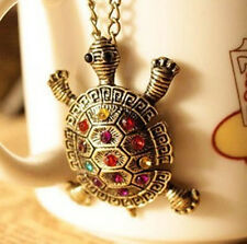 Fashion Crystal Turtle Pendant Womens Personality Bohemia Necklace Jewelry Gift