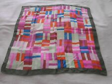 Stunning Vintage & Genuine Large Square Silk Scarf, Fab Colours, Liberty