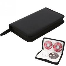 80 Disc CD Holder DVD Case Storage Wallet VCD Organizer PU Bag Black