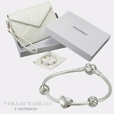 Authentic Pandora  Silver Filled With Love 7.5  Bracelet Gift Set USB794819
